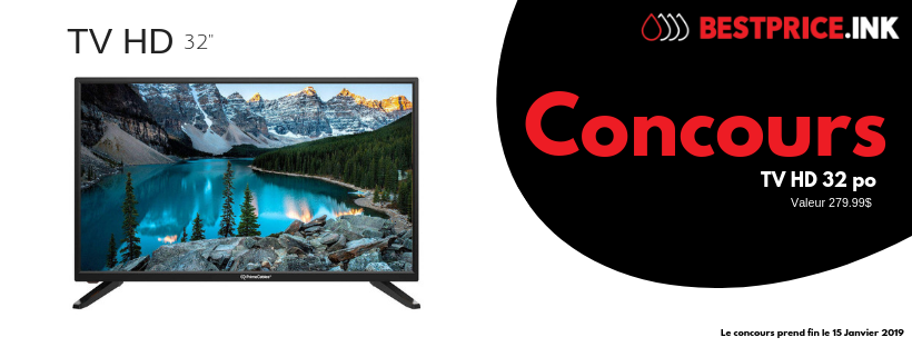 Concours Best Price.ink - Gagnez une TVHD 32''