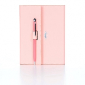 Color Notebook, 96 Sheets, 14 x 17.5cm, Pink, With Pen