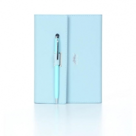Color Notebook, 96 Sheets, 14 x 17.5cm, Blue, With Pen