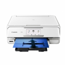 Canon PIXMA TS8120 All-In-One Color Inkjet Printer - White